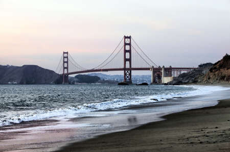Golden Gate Bridge Panorama Seen from Marshall Beach, San Francisco. Stock Photo - 11395560