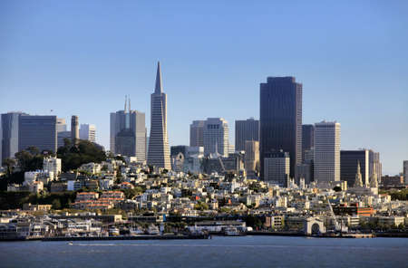 oakland: View of downtown San Francisco  from Alcatraz Island , California