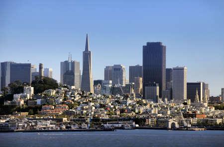 View of downtown San Francisco  from Alcatraz Island , California