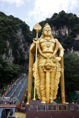 kavadi: Batu caves are a hindu temple on the outskirts of Kuala Lumpur