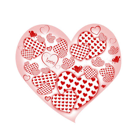 valentin: heart Vector Illustration icons symbols Valentine day Stock Photo