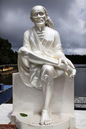 mauritius: Standbeeld in het Grand Bassin meer, Mauritius