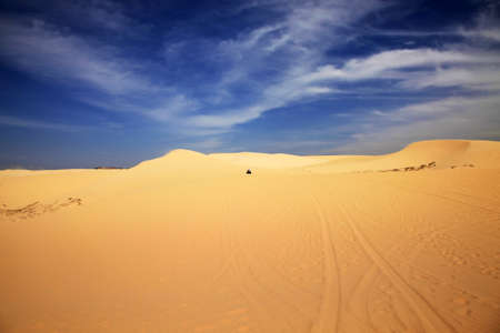 non urban scene: Panorama view of Landscape of Desert in Vietnam