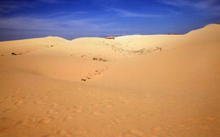 Panorama view of Landscape of Desert in Vietnam photo