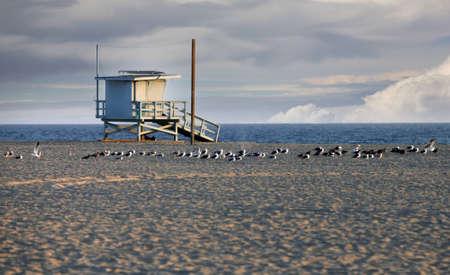 Lifeguard Station on Venice Beach in California photo