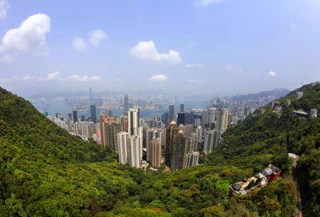 Hong Kong Skyline from Victoria Peak Stock Photo - 13214801
