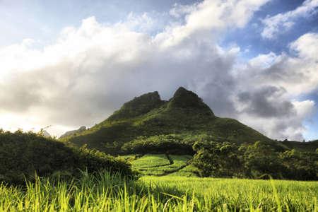 mauritius: Mountain on a background of the sky. Mauritius Stock Photo