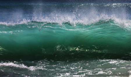 tsunami: Big wave crashes on to the shore. Indian ocean