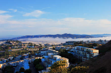 Aerial view of San Francisco with fog Stock Photo - 15217513