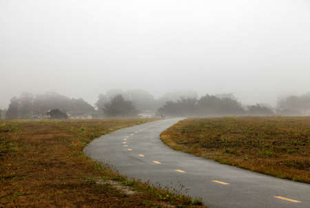Foggy autumn morning in California. Half Moon Bay photo