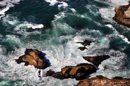 california coast: Coastline at Point Reyes National Seashore, California.