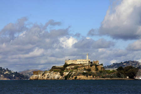 Alcatraz island in San Francisco bay, California with former prison ruins Stock Photo - 16233295