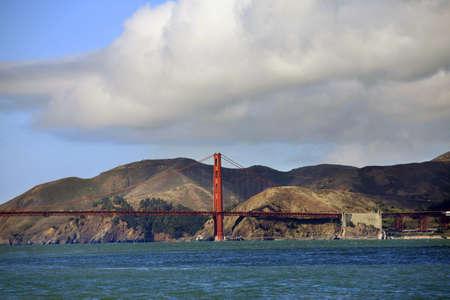 Sunny day at The Golden Gate Bridge in San Francisco, California Stock Photo - 16252956