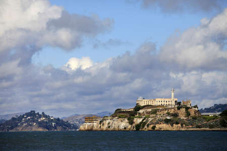 Alcatraz island in San Francisco bay, California with former prison ruins Stock Photo - 16233296