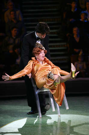 nikolay: RUSSIA, MOSCOW 21 NOVEMBER 2006: Nikolay Tsiskaridze and Tatyana Shmyga in Big Moscow circus in of show
