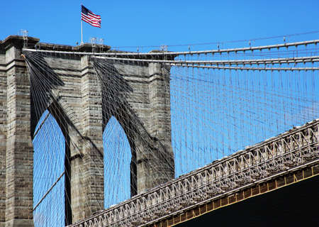 Brooklyn Bridge Pylon in New York City - USA photo