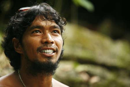 philippine adult: Portrait Philippine men outdoor. Philippines. Island Katiklan