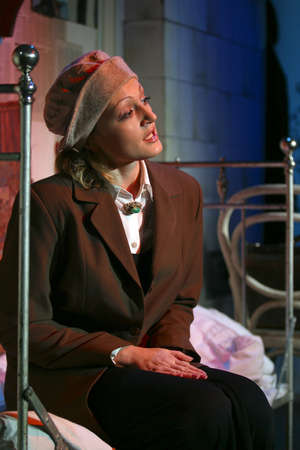 monologue: Actress on a stage cries