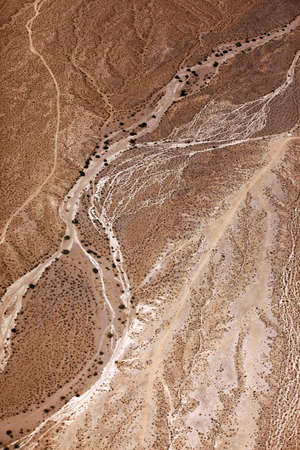 extreme heat: Aerial view of desert  Wilderness Area. Arizona, United States