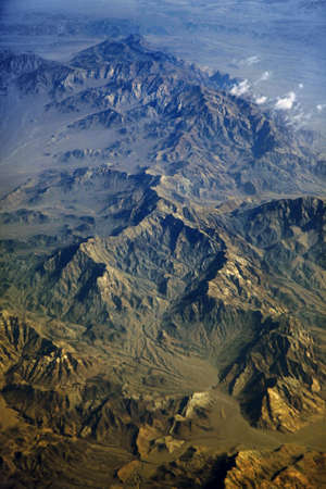 afghanistan: View on mountains from height of the birds flight