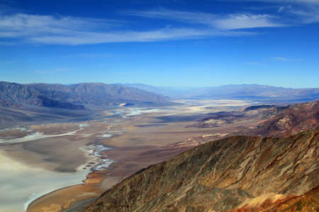 Famous view over Death Valley National Park, USA as seen from Zabrisky Point photo
