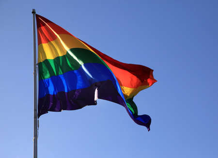 breeze: Rainbow Pride Flag on a sky blue