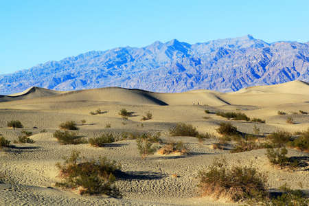Sand Dunes, Ripples And Mountain Peaks, Death Valley National Park, California Stock Photo - 17565436