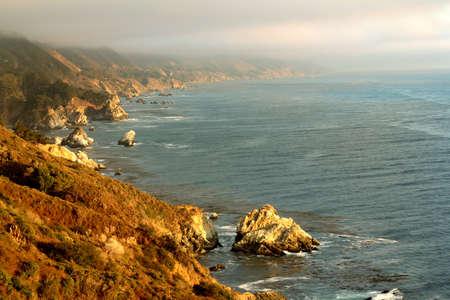 california coast: Beautiful Pacific Ocean coast, California, USA Stock Photo