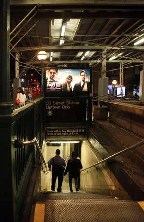 subway entrance: NEW YORK CITY - MAY 18: Subway entrance in New York City. May 18, in Manhattan, New York City. Editorial