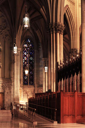 catholic mass: Ceiling Cathedral of St. Patrick, Manhattan, NYC