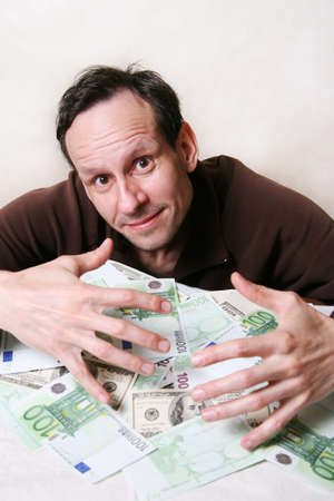 empty pockets: The adult the man with a heap of money