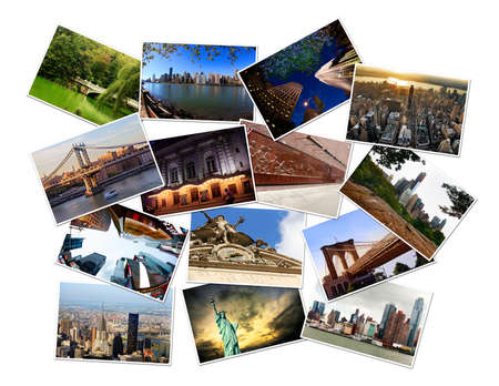 Postcard collage from New York, Manhattan, USA. Photos are also available separately at full size