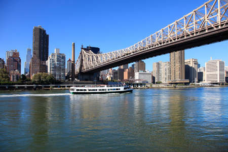 queensboro bridge: Queensboro Bridge Spanning the East River in New York City on a sunny day
