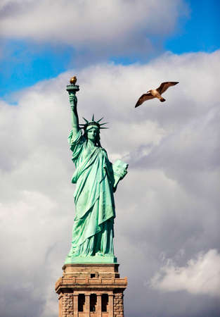 liberty island: New York City - Manhattan and the Statue of Liberty