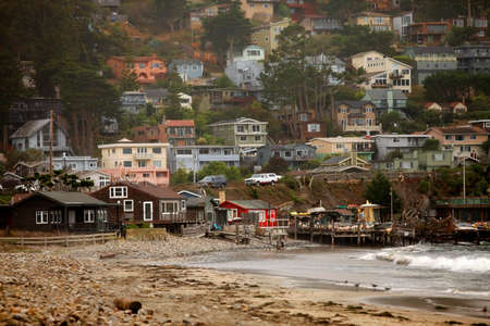 the ocean state: San Francisco. Pacifica State Beach Stock Photo