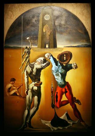 Figueras, SPAGNA - 18 aprile: Dettagli da Museo di Dali, aperto il 28 settembre 1974 ed ospita la più grande collezione di opere di Salvador Dali il 18 aprile 2008 a Figueras, Catalogna, Spagna Editoriali