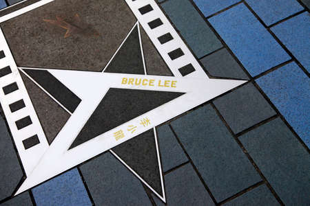 HONG KONG, CHINA - March 29: Bruce Lee star at the Avenue of Stars on 21 March 2012. Hong Kong, China.
