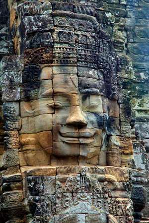murals: Stone murals and sculptures in Angkor wat. Cambodia