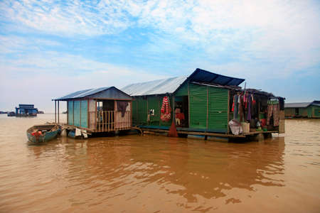 sap: The village on the water. Tonle sap lake in Cambodia
