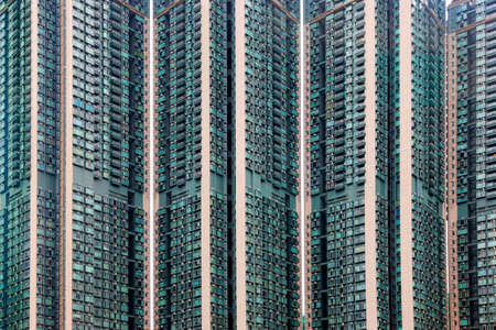 Public big apartment building in Hong Kong photo