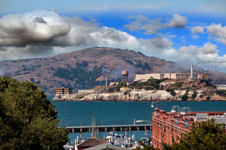 penitentiary: Alcatraz island penitentiary in San Francisco Bay  California, USA