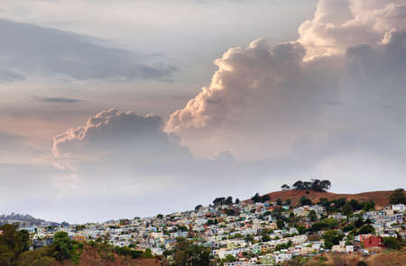 San Francisco suburb in cloudy weather photo