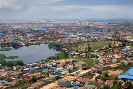 penh: Suburb of Phnom Penh top view  Cambodia