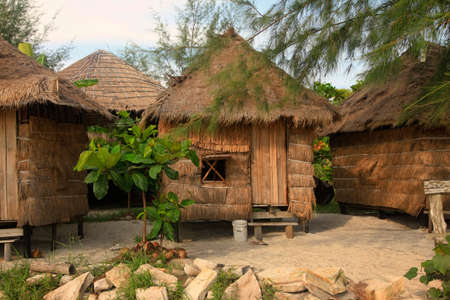 Tropical bungalow on the beach. Cambodia bungalow for tourist