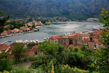 kotor: View of the Kotor and Kotor Bay. Montenegro