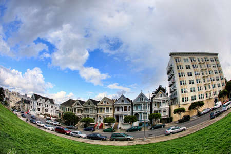 View to San Francisco with Alamo Square