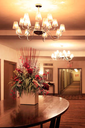 Hall in modern apartment building