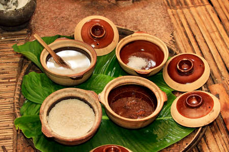 malaysia culture: Ingredients for rice wine from an ancient Malay recipe