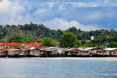 urban decline: Slum in Kota Kinabalucapital of the malayan part of Borneo, Malaysia Stock Photo