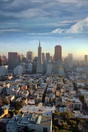 pyramid peak: Top view of San Francisco